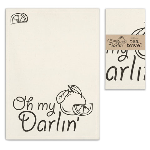 Oh My Darlin' Tea Towel - SET OF 4 - *FREE SHIPPING*