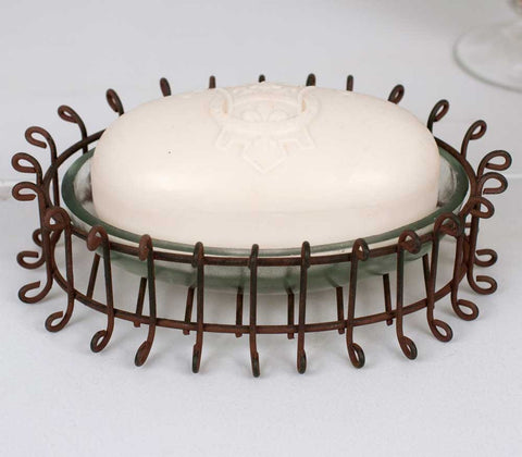 Oval Wire Soap Dish with Glass - Set Of 4 - *FREE SHIPPING*