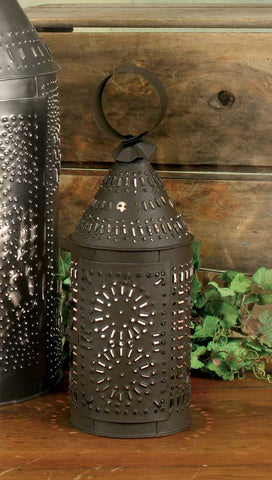 Paul Revere Candle Lantern - Rustic Brown - *FREE SHIPPING*