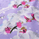 Polyester Fabric Shower Curtain Waterproof Home Bathroom Curtains Butterfly orchid purple bath crutain for the bathroom