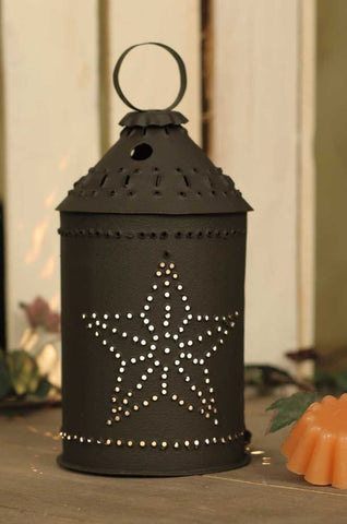 Punched Barn Star Paul Revere Junior Wax Warmer - Rustic Brown - *FREE SHIPPING*