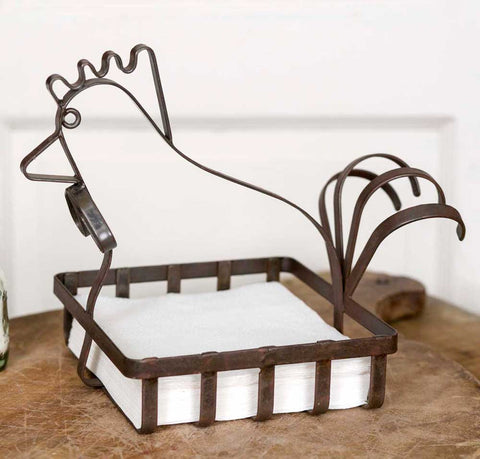 Rooster Napkin Basket - *FREE SHIPPING*