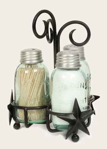 Star Salt Pepper and Toothpick Caddy - SET OF 2 - *FREE SHIPPING*