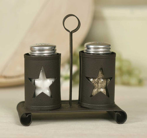 Salt & Pepper Caddy - Pennsylvania Star - Rustic Brown - SET OF 2 - *FREE SHIPPING*