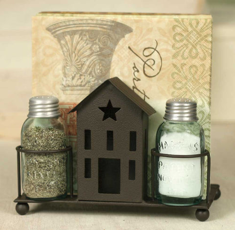 Saltbox House Salt Pepper and Napkin Caddy - Set Of 2 - *FREE SHIPPING*