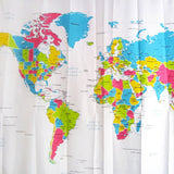 Shower Curtain World Map Pattern Creative Shower Curtain Bathroom Waterproof Polyester Fabric 180*180cm/72*72'' +12 Hooks - *FREE SHIPPING*