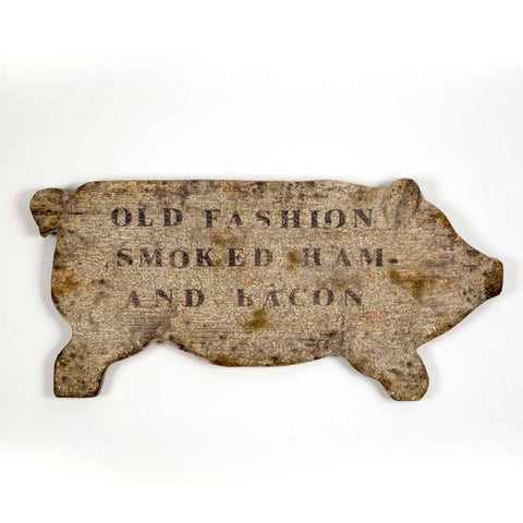 """Smoked Ham"" Resin Wall Sign - *FREE SHIPPING*"