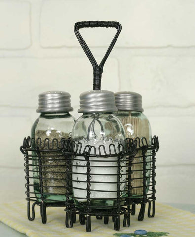Spiral Wire Salt Pepper and Toothpick Caddy - SET OF 2 - *FREE SHIPPING*