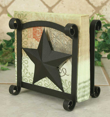 Star Napkin Holder - Rustic Brown Finish - Set Of 2 - *FREE SHIPPING*