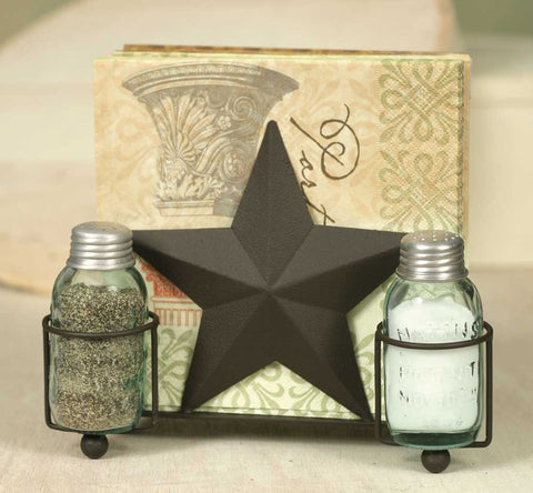 Star Salt Pepper and Napkin Caddy - Set Of 2 - *FREE SHIPPING*