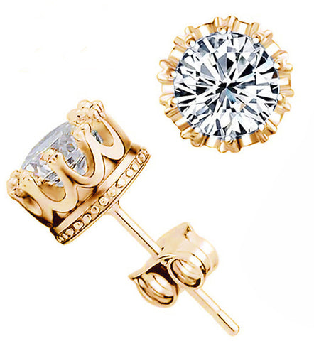 Crown Diamond Earring - *FREE SHIPPING*