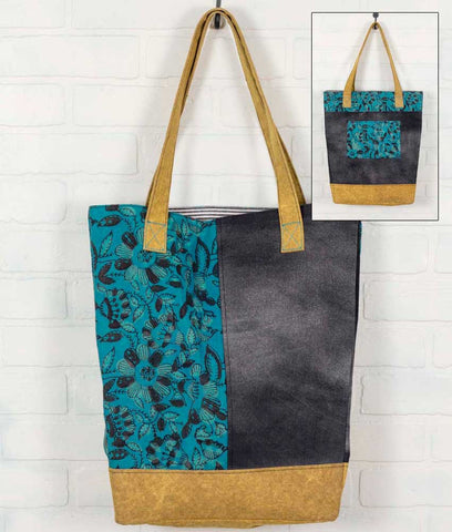 Teal and Mustard Market Bag - *FREE SHIPPING*