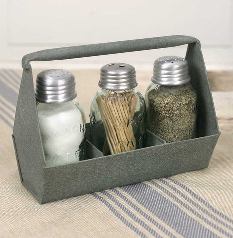 Toolbox Salt, Pepper, and Toothpick Caddy - *FREE SHIPPING*