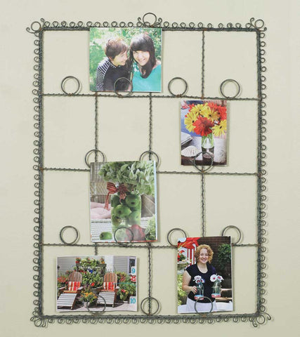 Rectangular Twisted Wire Photo Holder - Set Of 2 - *FREE SHIPPING*