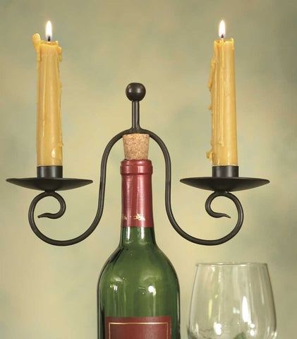 Two Candle Wine Bottle Candle Holder - SET OF 2 - *FREE SHIPPING*