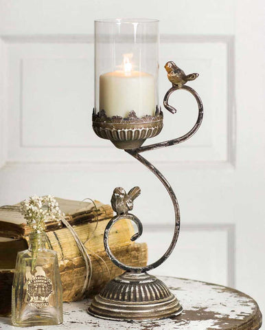 Victorian Songbird Pillar Holder - *FREE SHIPPING*