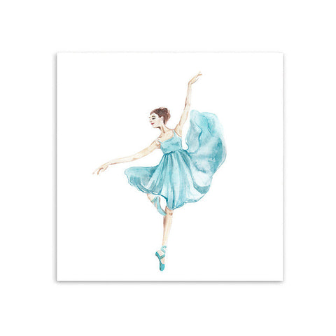 Watercolor Ballet Dance Girl Canvas Art Print Painting, Wall Art Decor - *FREE SHIPPING*