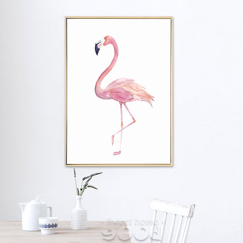 Watercolor Flamingo Canvas Art Print Painting,  Wall Pictures for Home Decoration - *FREE SHIPPING*