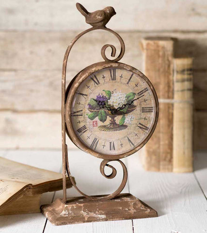 Wildflowers Tabletop Clock - *FREE SHIPPING*