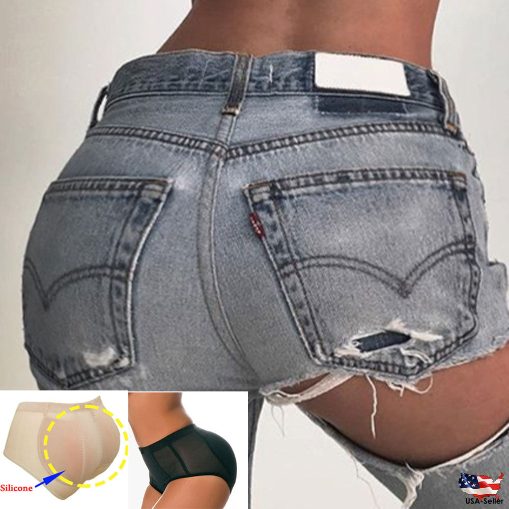 Removable Padded Butt Silicone Buttocks Pads Panties Enhancer body Shaper Tummy Control