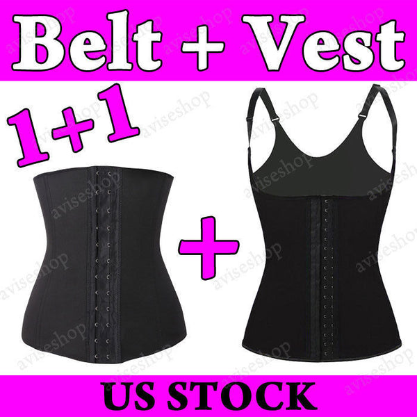 Waist Trainer Vest Corsets Cincher Chaleco Underbust Tummy Girdle Control Body Shaper #A-25 - LikeEJ - 1