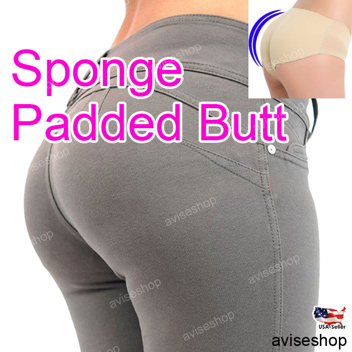 e0bf636ffd971 Women Panty Butt Padded Panties Big Hip up Seamless boost underwear  intimate pad