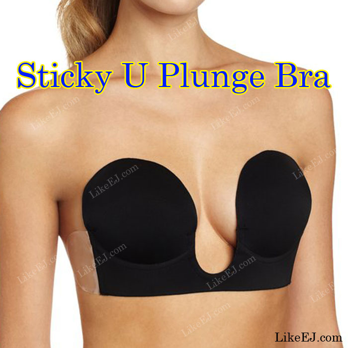 64b99a5fd Women U V Plunge shape Invisible Back Push Up Strapless Self Adhesive  Silicone Bra