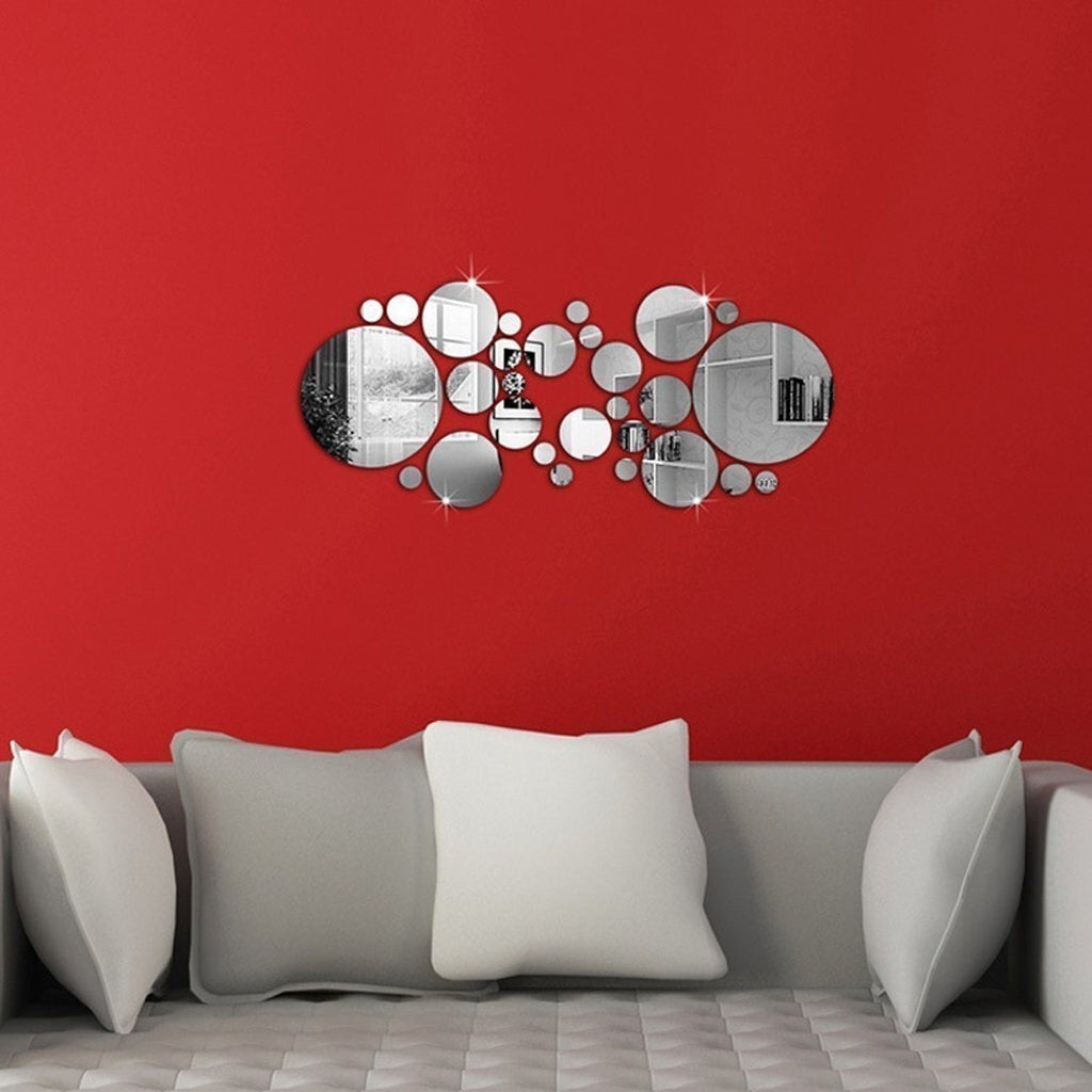 3D Mirror Circle Decal Wall Sticker DIY Removable Art Mural Home Room Decor