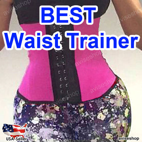 Sport Latex Waist Trainer Cincher Underbust Corset Body Shaper Shapewear Belt