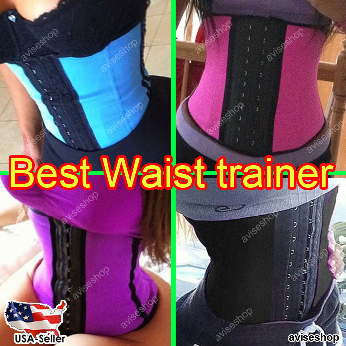 Underbust Waist Trainer Cincher Corset Girdle Workout Belt Shaper US #1