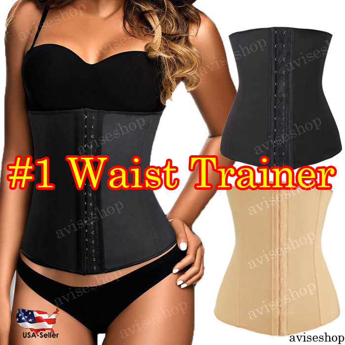 4 Spiral Steel Boned Underbust Waist Trainer(USA)