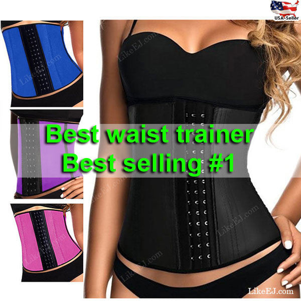 4347be88fc Sport Latex Rubber Waist Trainer Cincher Underbust Corset Body Shaper  Shapewear