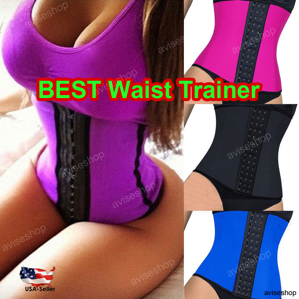 Sport Latex Rubber Waist Trainer Cincher Underbust Corset Body Shaper Workout #A-3