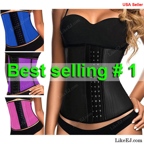 #1 Waist Trainer Training Corsets Hot Shapers Body Shaper Waist Cincher