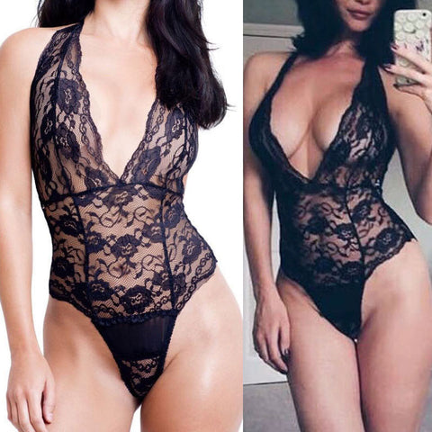Women Nightwear Dress Sleepwear Lace Black Swimwear Pretty Underwear Bodysuit