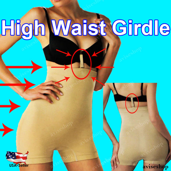 WOMEN'S Body SHAPEWEAR SLIMMING Seamless Tummy Control Girdl HIGH WAIST Girdle BOYSHORT Spandex