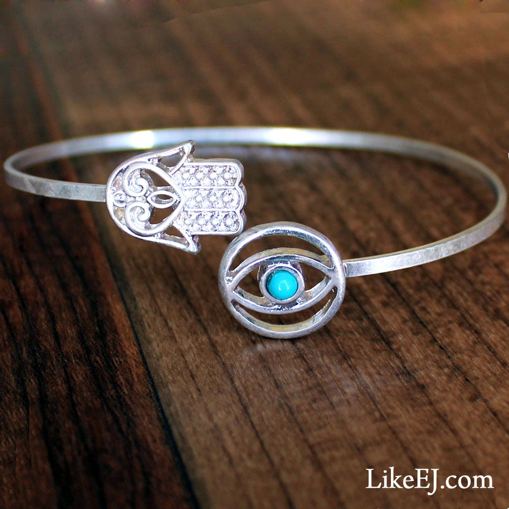 Eye and Hand Bangle Bracelet - LikeEJ - 1