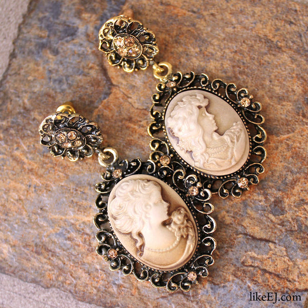 Cameo Antique Drop Earring - LikeEJ