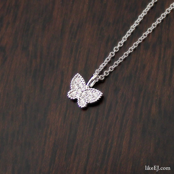 Tiny Butterfly Necklace - LikeEJ