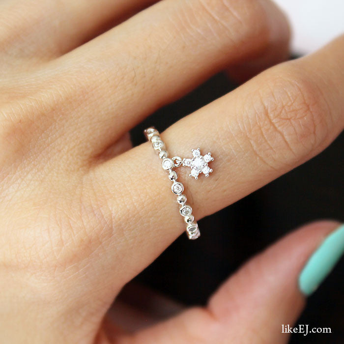 Tiny Dangle Ring - LikeEJ - 1