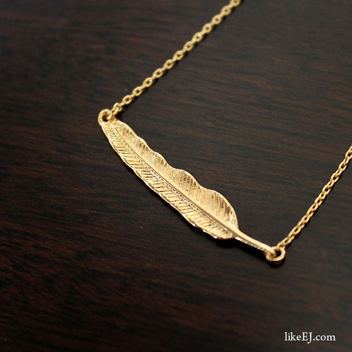 Leaf Necklace - LikeEJ