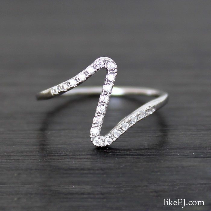 Crystal Wave Ring - LikeEJ - 1