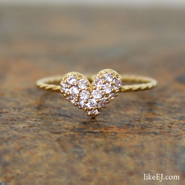 Crystal Heart Ring - LikeEJ - 1