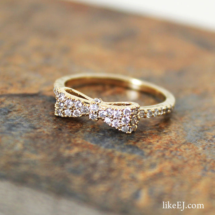 Gorgeous Crystal Bow Ring - LikeEJ - 1