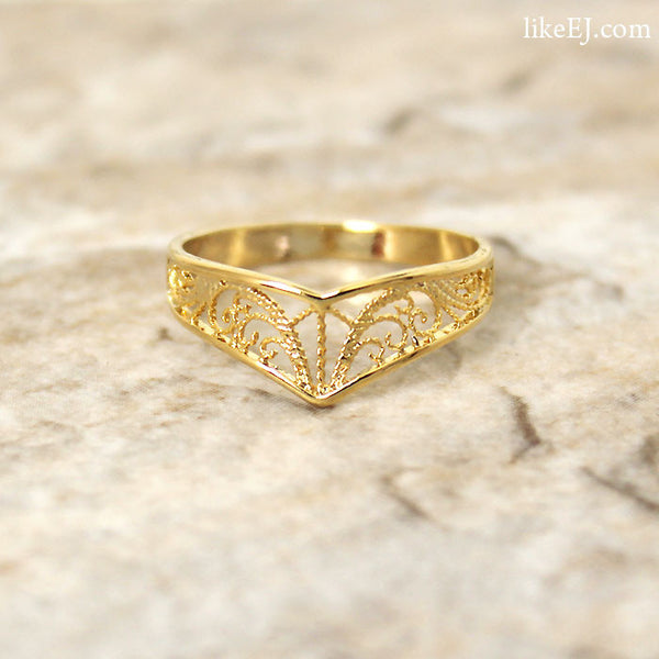 Unique Chevron Ring - LikeEJ - 1