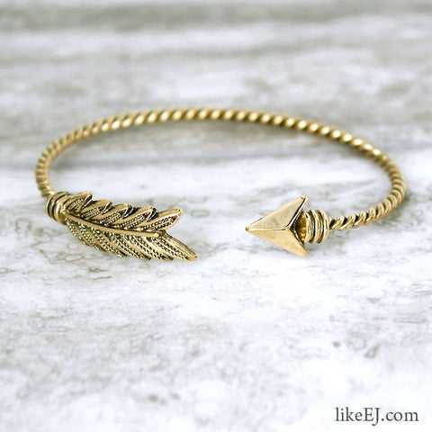 Antique Arrow Bangle