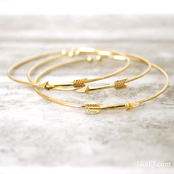 Triple Arrow Bracelet Set - LikeEJ - 1