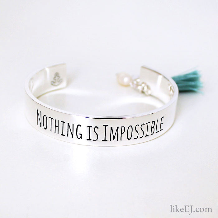 Nothing Is Impossible Bangle - LikeEJ - 1