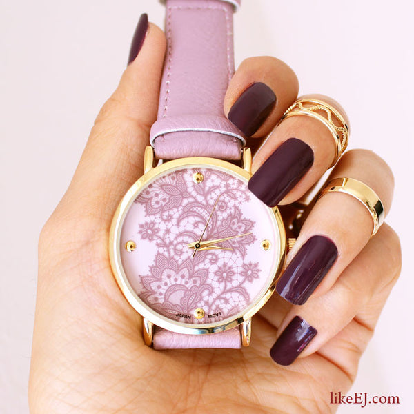 Lace Print Watch - LikeEJ - 1