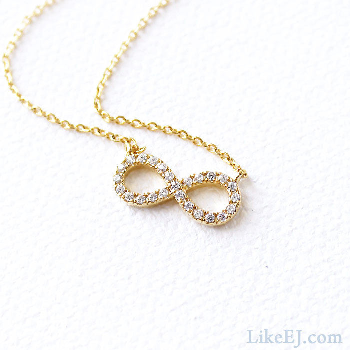 Infinity Crystal Necklace - LikeEJ - 1